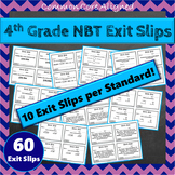 4th Grade NBT Exit Slips: Number & Operations in Base Ten Exit Tickets 4th Grade