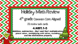 4th Grade NBT Holiday Math Review