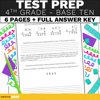 4th Grade Math Test Prep Numbers and Base Ten