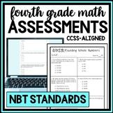 4th Grade NBT Quiz Bundle, Whole Number Place Value & Operations CCSS