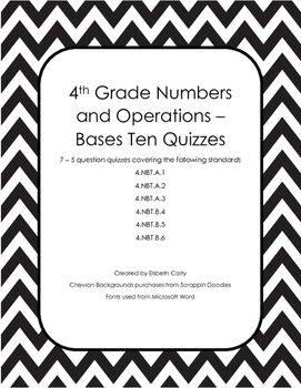 7 Numbers and Operations Quizzes