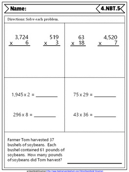 4th Grade NBT Quizzes: 4th Grade Math Quizzes, Number & Operations in Base Ten