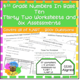 4th Grade NBT Worksheets & Assessments - Entire 4.NBT Stan