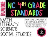 2018-19 4th Grade NC Standards & Essential Questions ELA, Math, Science, SS