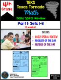 4th Grade NEW TEKS Texas Tornado Spiral Review  Pt 2 (Sets 7-12) Be STAAR Ready