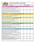 4th Grade NGSS Checklist