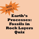4th Grade NGSS ESS1 -1: Fossils in Rock Layers Quiz