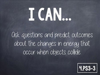 """4th Grade NGSS """"I Can"""" Statements"""