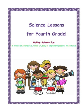 4th Grade NGSS Lessons- 18 Weeks- Complete! Bundled