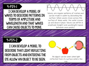 4th Grade NGSS Posters