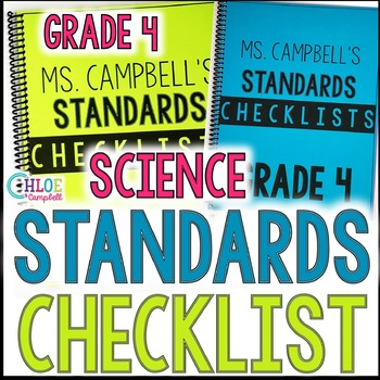 4th Grade NGSS Science Standards Checklist