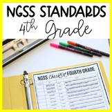 4th Grade NGSS Standards Checklist and Planning | Science Teacher Binder