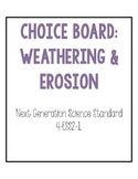 4th Grade NGSS Weathering and Erosion Choice Board