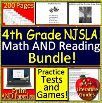 4th Grade NJSLA Reading and Math Bundle! New Jersey Student Learning Assessment