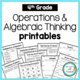 4th Grade  NO PREP PRINTABLES (Operations & Algebraic Thinking)