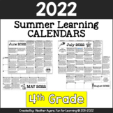 2019 4th Grade NO PREP Summer Calendars