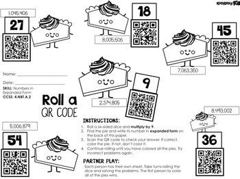 4th Grade NOVEMBER QR Code Printables - Low Prep!