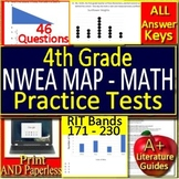 4th Grade NWEA MAP Math Test Prep Practice Assessments RIT Bands 171 - 230