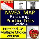 4th Grade NWEA MAP Reading Test Prep Bundle for Language Arts ELA