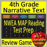4th Grade NWEA MAP Reading Test Prep Reading Literature + Narrative Review Game