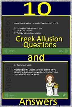 4th Grade NWEA MAP Reading Test Prep Vocabulary and Myth Allusions Review Game