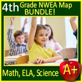 4th Grade NWEA MAP Science, Reading, and Math Practice Tests and Games Bundle!