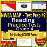 4th Grade NWEA MAP Test Prep Reading Tests #2 - Print + SELF-GRADING GOOGLE FORM