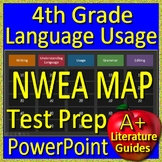 4th Grade NWEA Map Test Prep Language Usage and Writing Game RIT Bands 191 - 220