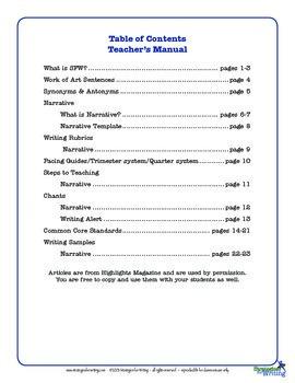 Narrative Writing 4th Grade Common Core  Writing Lady Shelle Allen