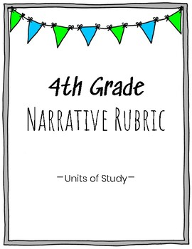 4th Grade Narrative Writing Rubric
