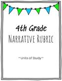 4th Grade Narrative Writing Rubric