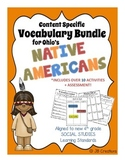 4th Grade Native American Content Specific Vocabulary Activity Pack (Ohio Model)