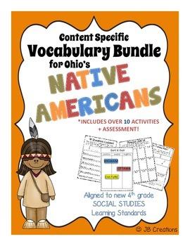 4th Grade Native American Content Specific Vocabulary Acti