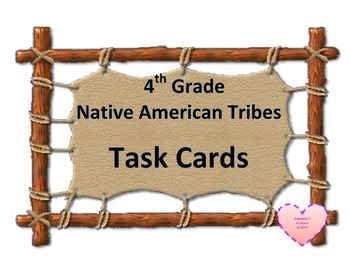 Native American Tribes Task Cards