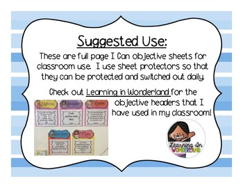 4th Grade New Jersey I Can Statements - Social Studies & Science