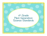 "4th Grade Next Generation Science ""I Can"" Statements"
