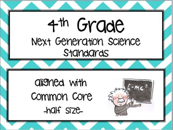 "NGSS Posters -4th Grade- Next Generation Science (Common Core Align) ""I Can..."""