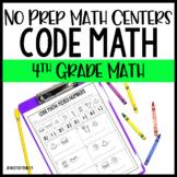 4th Grade No Prep Math Centers - Code Math