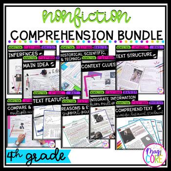4th Grade Nonfiction Comprehension Bundle