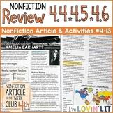 4th Grade Nonfiction Skill Review RI.4.4, 4.5, & 4.6   Amelia Earhart #4-13
