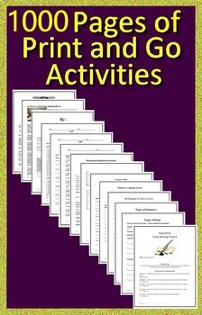 4th Grade Novel Study Bundle - Full Year of Activities and Assessments