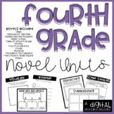 Fourth Grade Novel Units Bundle DIGITAL Included