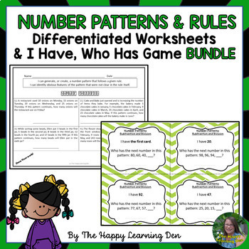 4th Grade Number Patterns and Rules Activities BUNDLE