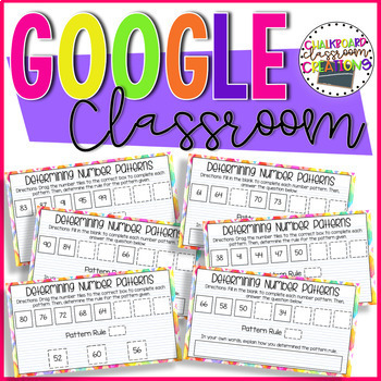 4th Grade Number Patterns for Google Classroom 4.OA.C.5