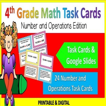 4th Grade Number and Operations Task Cards