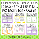 4th Grade Number and Operations in Base Ten Task Card Bundle