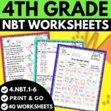 4th Grade Numbers in Base Ten Worksheets