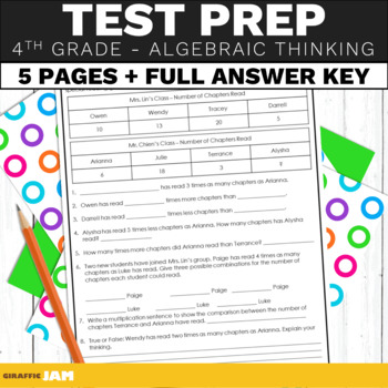 4th Grade Math Test Prep Operations and Algebraic Thinking Standards