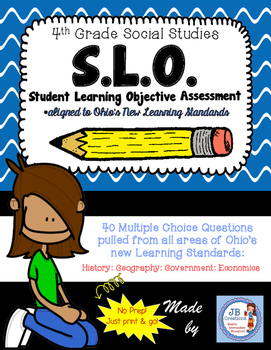 4th Grade OH Social Studies SLO (Student Learning Objectiv