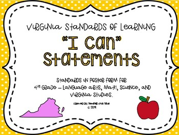 4th Grade Objectives/I Can Statements